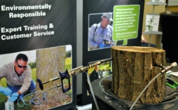 Equipment used to inject trees for protection against insects such as the emerald ash borer.