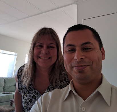 Rudy Ayala and his proctor, Laurie Jo Jensen